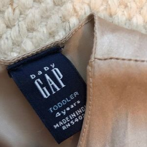 GAP Dresses - BabyGap Silk/Cotton taupe color ruffled dress